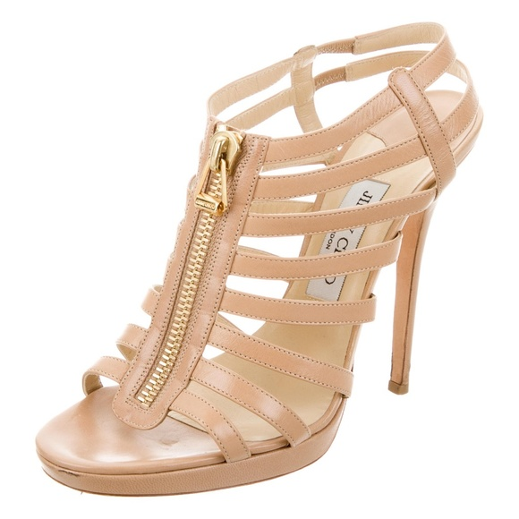 d6a087691208 Nude Glenys Patent Leather Caged Sandals